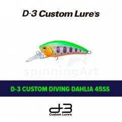 Воблер D-3 Custom Diving Dahlia 45SS