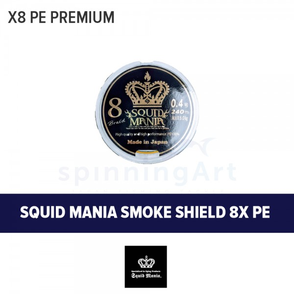 Шнур Squid Mania Smoke Shield x8 PE #0.4